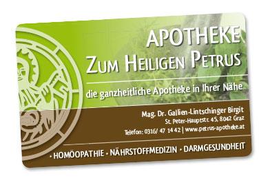 Kundenkarte Apotheke Zum heiligen Petrus